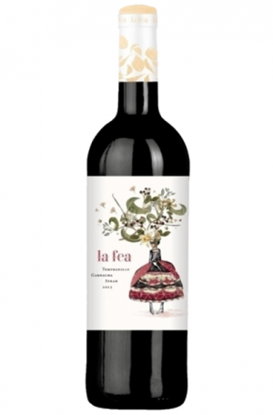 Red Wine Bottle of La Fea Teampanillo Garnacha Syrah from Spain