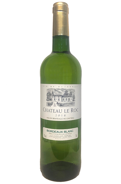 White Wine Bottle of Le Roc Bordeaux Blanc from France