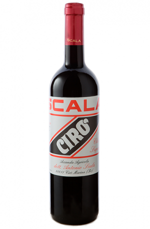 Red Wine Bottle of Scala Ciro from Italy