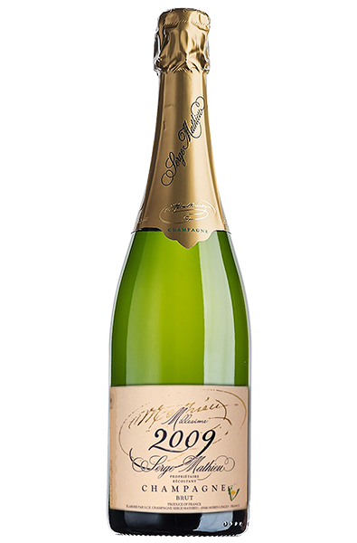 Champagne Bottle of Serge Mathieu Brut from France