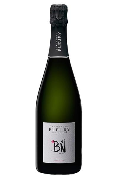 Sparkling Wine Bottle of Fleury Brut Champagne from France