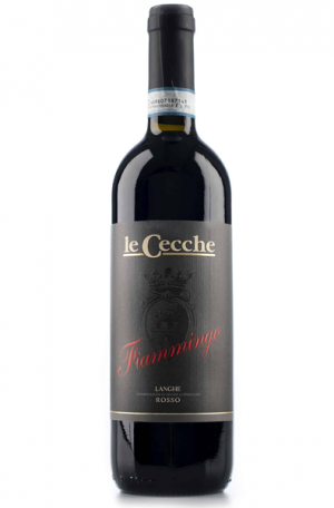 Red Wine Bottle of Le Cecche Fiammingo Langhe Rosso from Italy