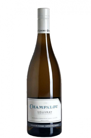 White Wine Bottle of Champalou Vouvray from France