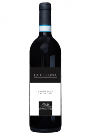 Red Wine Bottle of La Collina Langhe D.O.C. Freisa from Italy