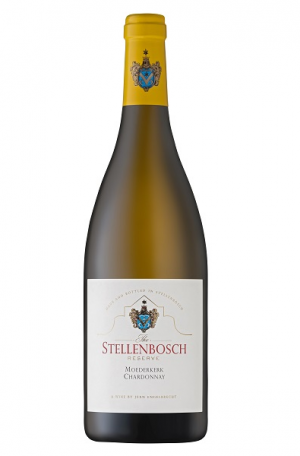 White Wine Bottle of Rust En Vrede Stellenbosch Chardonnay from South Africa