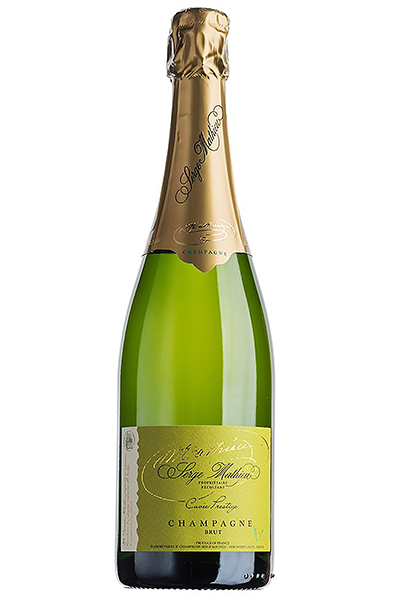 Sparkling Wine Bottle of Serge Mathieu Brut Prestige Champagne from France