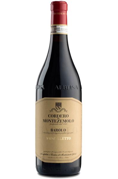 Red Wine Bottle of Cordero di Montezemolo Monfalleto Barolo from Italy
