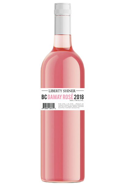 Rose Wine Bottle of Liberty BC Gamay Shiner from British Columbia