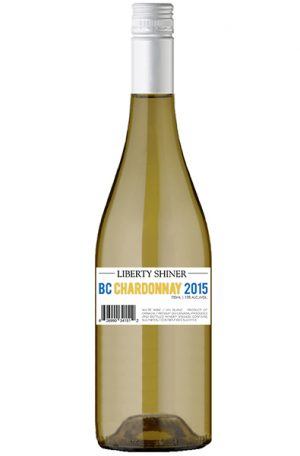 White Wine Bottle of Liberty Chardonnay Shiner from British Columbia