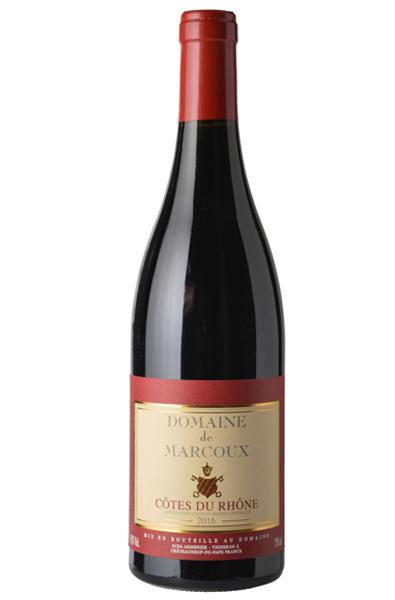 Red Wine Bottle of Domaine de Marcoux Cotes du Rhone from France