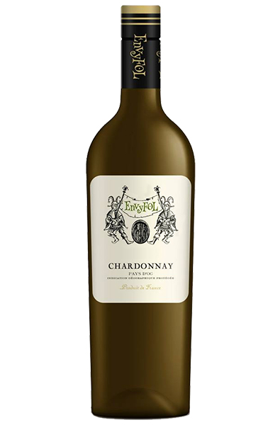 White Wine Bottle of Lavau Envyfol Pays D'oc Chardonnay
