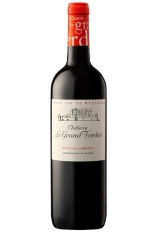 Red Wine bottle of Le Grand Verdus Bordeaux Superieur from France