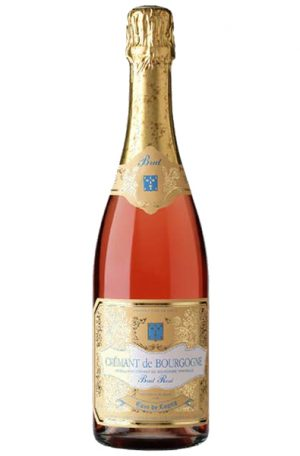 Sparkling Rosé Bottle of Cave de Lugny Cremant de Bourgogne Rosé from France