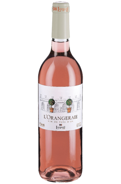 Rose Wine Bottle of Lorgeril L'orangeraie Rose from France