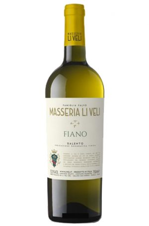 White Wine Bottle of Masseria Li Veli Fiano Puglia from Italy