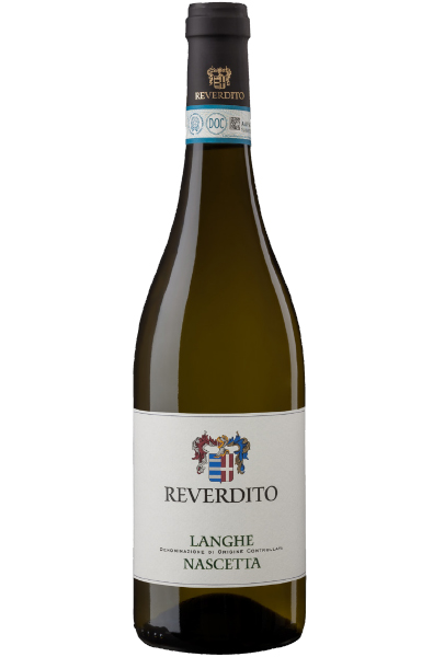 White Wine Bottle of Reverdito Langhe Nascetta from Italy