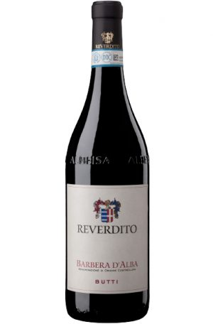Red Wine Bottle of Reverdito Barbera D'alba Butti from Italy