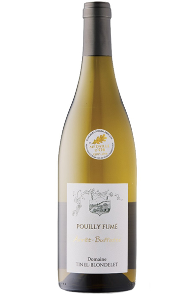 White Wine Bottle of Tinel Blondelet L'arret Buffatte Pouilly Fume from France