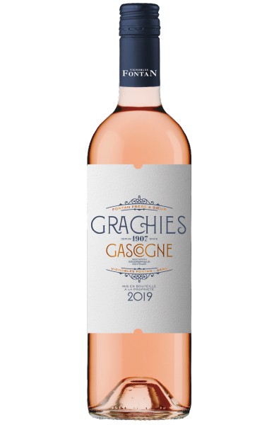 Rose Wine Bottle of Grachies Rose from Italy