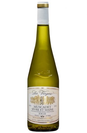 White Wine Bottle of Les Vergers Muscadet Sevre et Maine from France