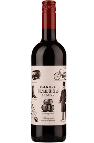 Red Wine Bottle of Chateau du Cedre Marcel Malbec from France