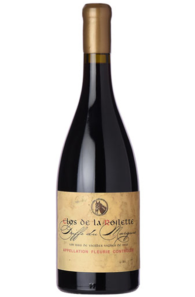 Red Wine Bottle of Clos de la Roilette Griffe du Marquis from France