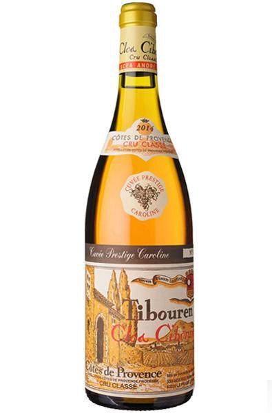 Rose Wine Bottle of Clos Cibonne Caroline Rose from France