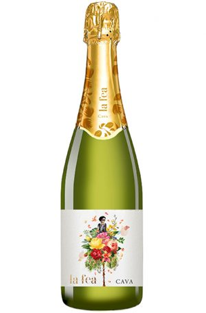 Sparkling Wine Bottle of La Fea Cava from Spain