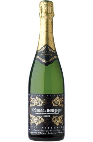 Sparkling Wine Bottle of Cave de Lugny Cremant de Bourgogne Millesimee from France