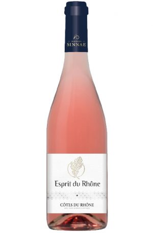 Rose Wine Bottle of Maison Sinnae Esprit du Rhone Rose from France