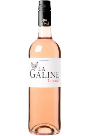 Rose Wine Bottle of Lorgeril La Galine Cinsault Rose from France
