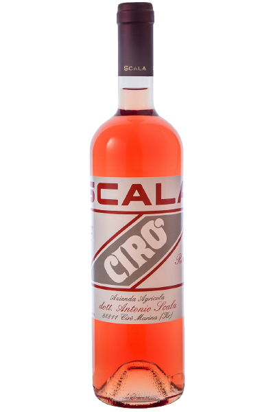 Rose Wine Bottle of Scala Ciro Rosato from Italy
