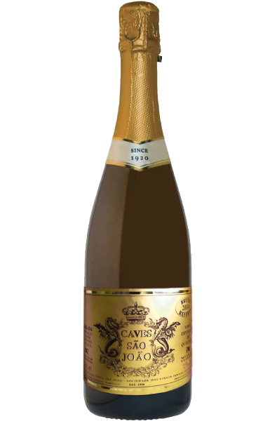 Sparkling Wine Bottle of Caves Sao Joao Brut Reserva from Portugal