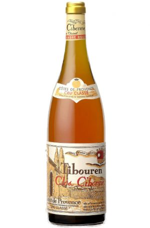 Rose Wine Bottle of Clos Cibonne Tradition Provence Rose from France