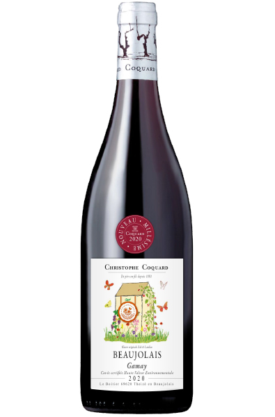 Red Wine Bottle of Coqaurd Beaujolais Nouveau from France