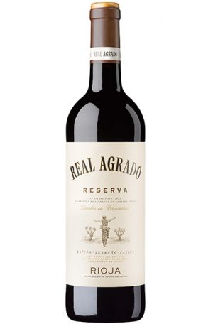 Red Wine Bottle of Real Agrado Rioja Riserva from Spain